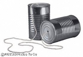 Tin can and string telephone
